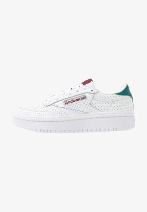 CLUB C DOUBLE - Trainers - white/heritage teal/merlot
