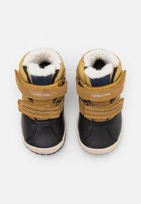 Geox - OMAR BOY WPF - Winter boots - yellow/blue - 3