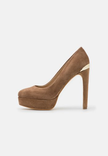 DEARLY - Platform heels - tan