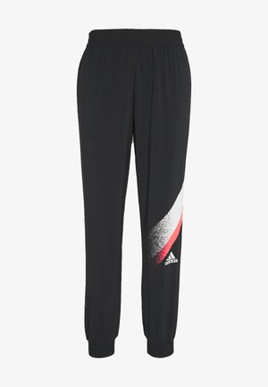 Tracksuit bottoms - black/white/white