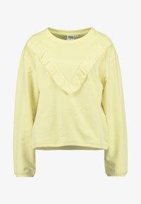 LADIES TERRY VOLANT CREW - Sweatshirt - powderyellow