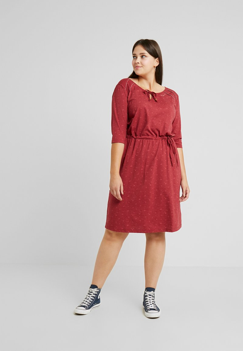 Ragwear Plus - TETUAN ORGANIC DRESS - Kjole - wine red
