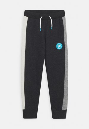 COLORBLOCK  - Tracksuit bottoms - black heather