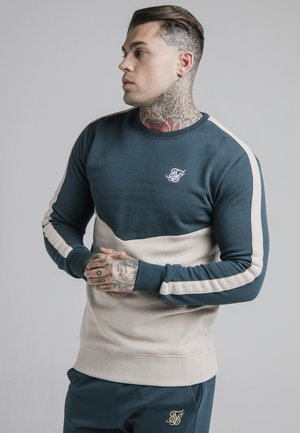CUT AND SEW CREW - Sweatshirt - ocean green/cream