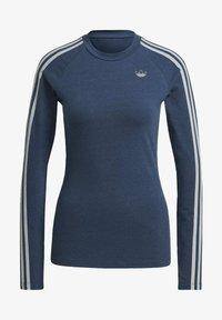 adidas Originals - FAKTEN LONG SLEEVE TEE - Long sleeved top - blue - 6