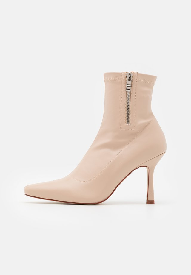 RUBINA - Classic ankle boots - nude