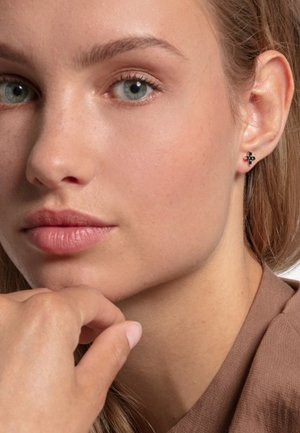 KREUZ - Earrings - black/silver-coloured