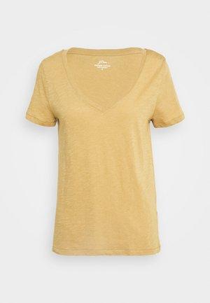 VINTAGE V NECK TEE - Basic T-shirt - honey brown