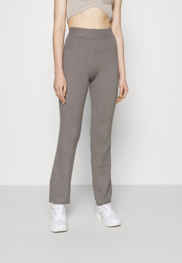 WIDE LEG TROUSER - Trousers - mid grey