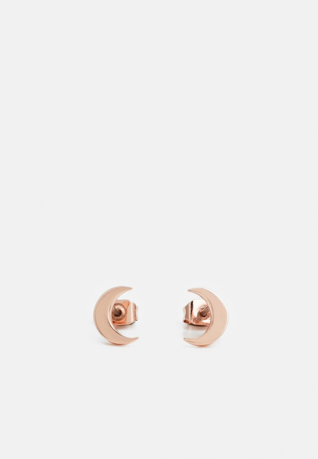 MARLYY CRESCENT MOON STUD EARRING - Pendientes - rose gold-coloured/crystal