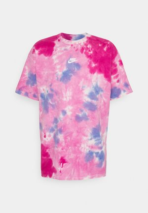 TEE  - T-shirt imprimé - white/psychic pink
