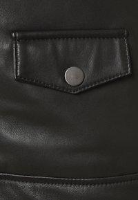 KARL LAGERFELD - BIKER JACKET - Leather jacket - black - 4