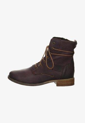 SIENNA - Lace-up ankle boots - bordeaux