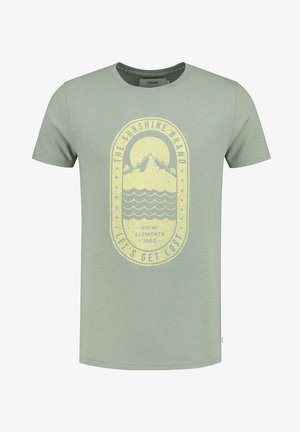 TROPICS PLACED PRINT - T-shirt print - miami pistache
