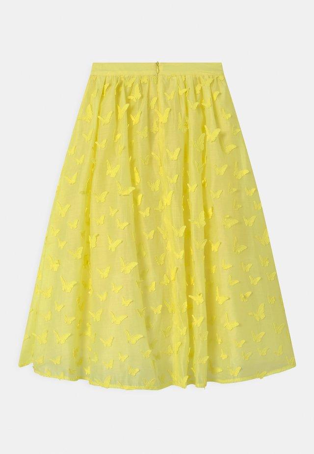 Maxi sukně - straw yellow
