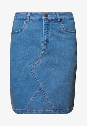 NUAYLETH SHORT SKIRT - Denim skirt - denim