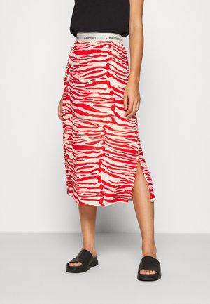 ZEBRA PRINT LOGO SKIRT - A-line skirt - red