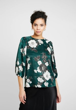 FLORAL BALLOON SLEEVE - Blouse - green