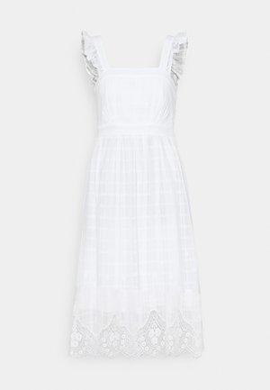 MELODY CUTWORK SUNDRESS - Denní šaty - porcelain