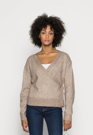 LOOSE FIT WRAP  - Sweter - taupe