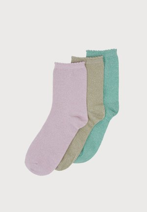 PCSEBBY LONG SOCKS 3 PACK - Ponožky - zephyr