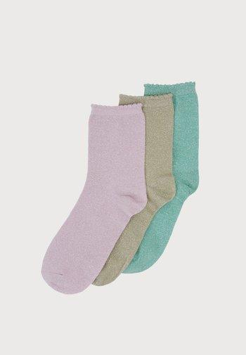 PCSEBBY LONG SOCKS 3 PACK - Socks - zephyr