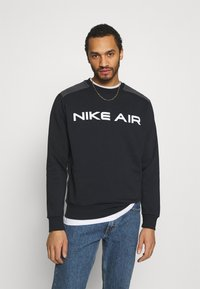 Nike Sportswear - AIR CREW - Sweatshirt - black/dk smoke grey/white - 0