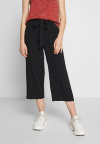 ONLY - ONLNOVA LIFE CROP PALAZZO PANT - Trousers - black - 0