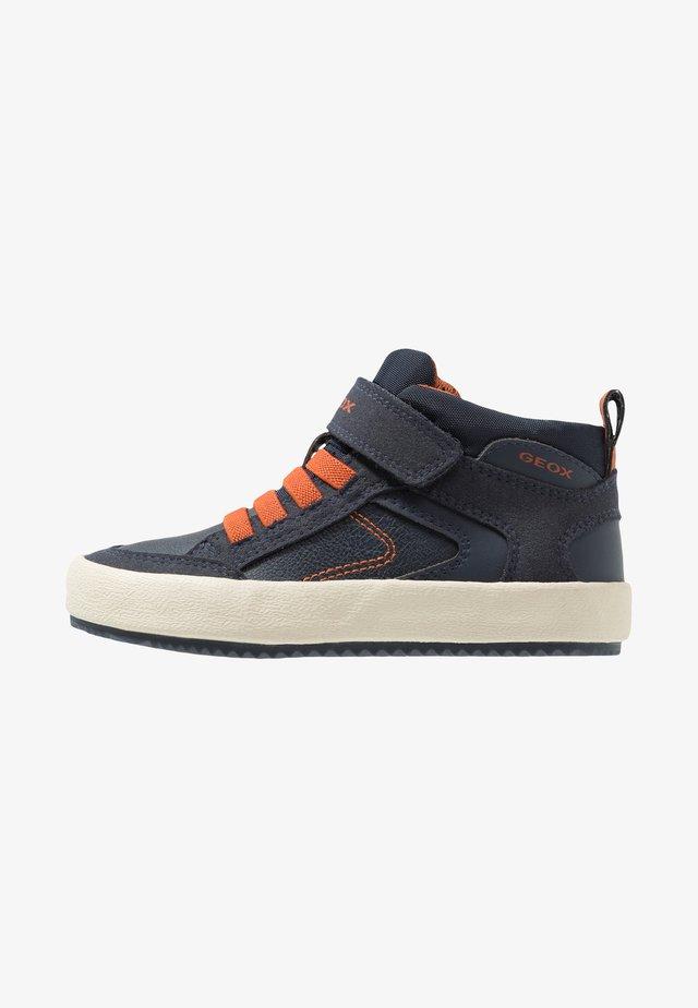 ALONISSO BOY - High-top trainers - navy/dark orange