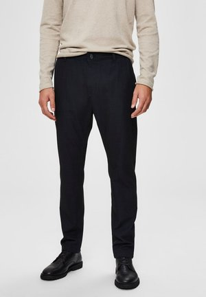 SLHSLIM STORM FLEX SMART PANTS - Trousers - dark sapphire