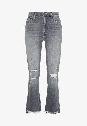 THE INSIDER CROP STEP FRAY  - Flared Jeans - grey denim