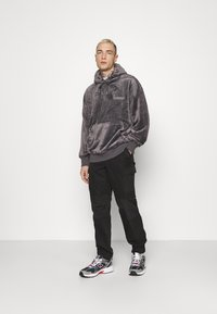 Topman - GREY LOGO TEDDY HOOD - Sweatshirt - grey - 1