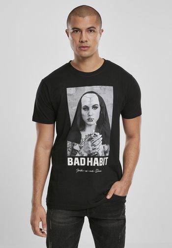 BAD HABIT - Print T-shirt - black