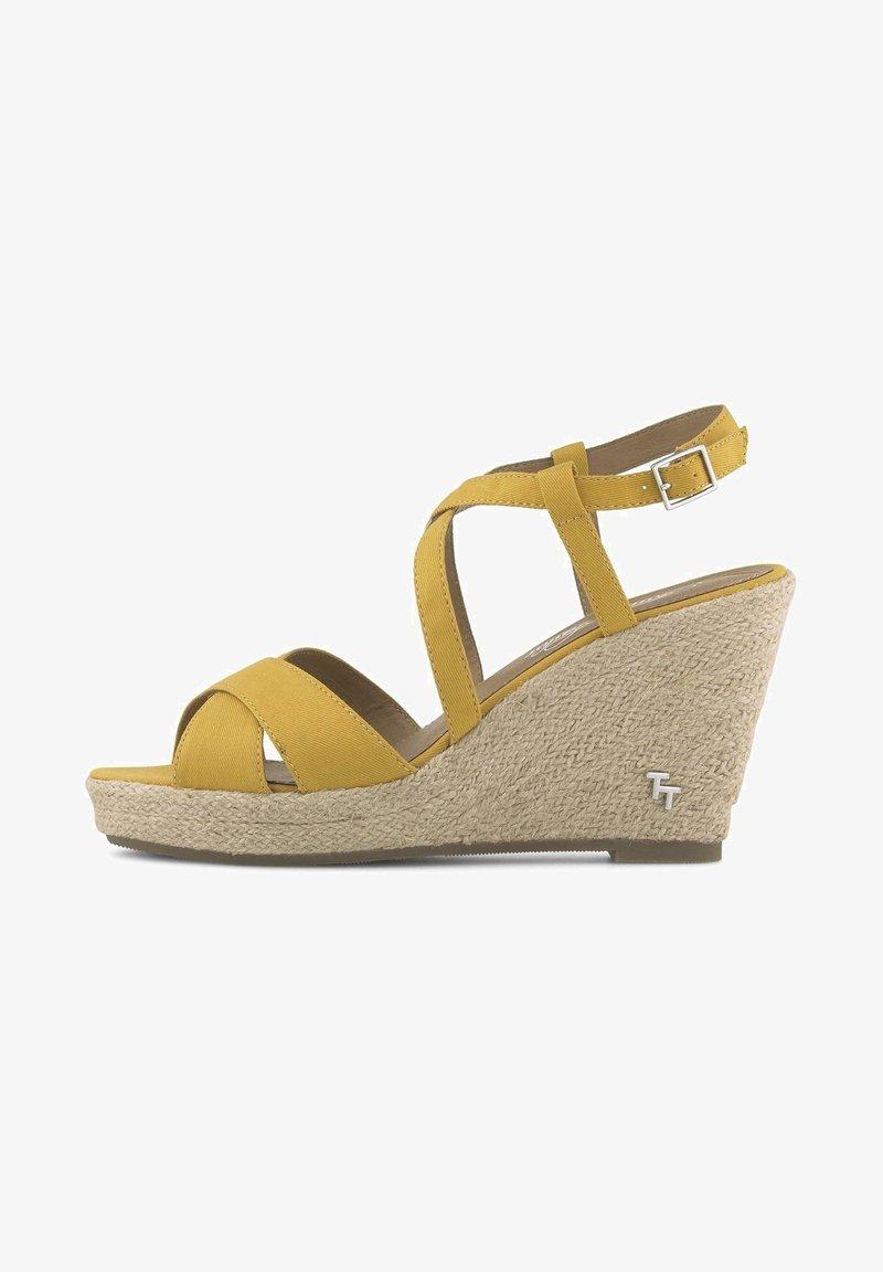 TOM TAILOR - Sandalen met hoge hak - yellow