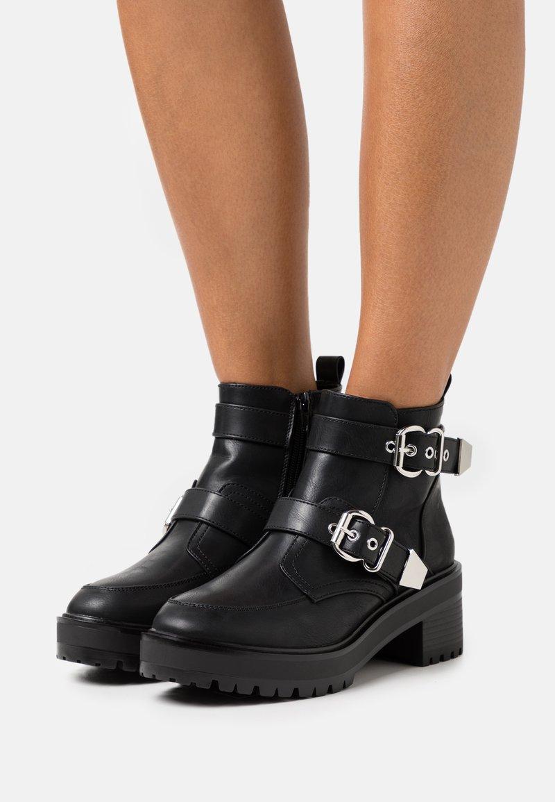 Even&Odd Wide Fit - Kovbojské/motorkářské boty - black