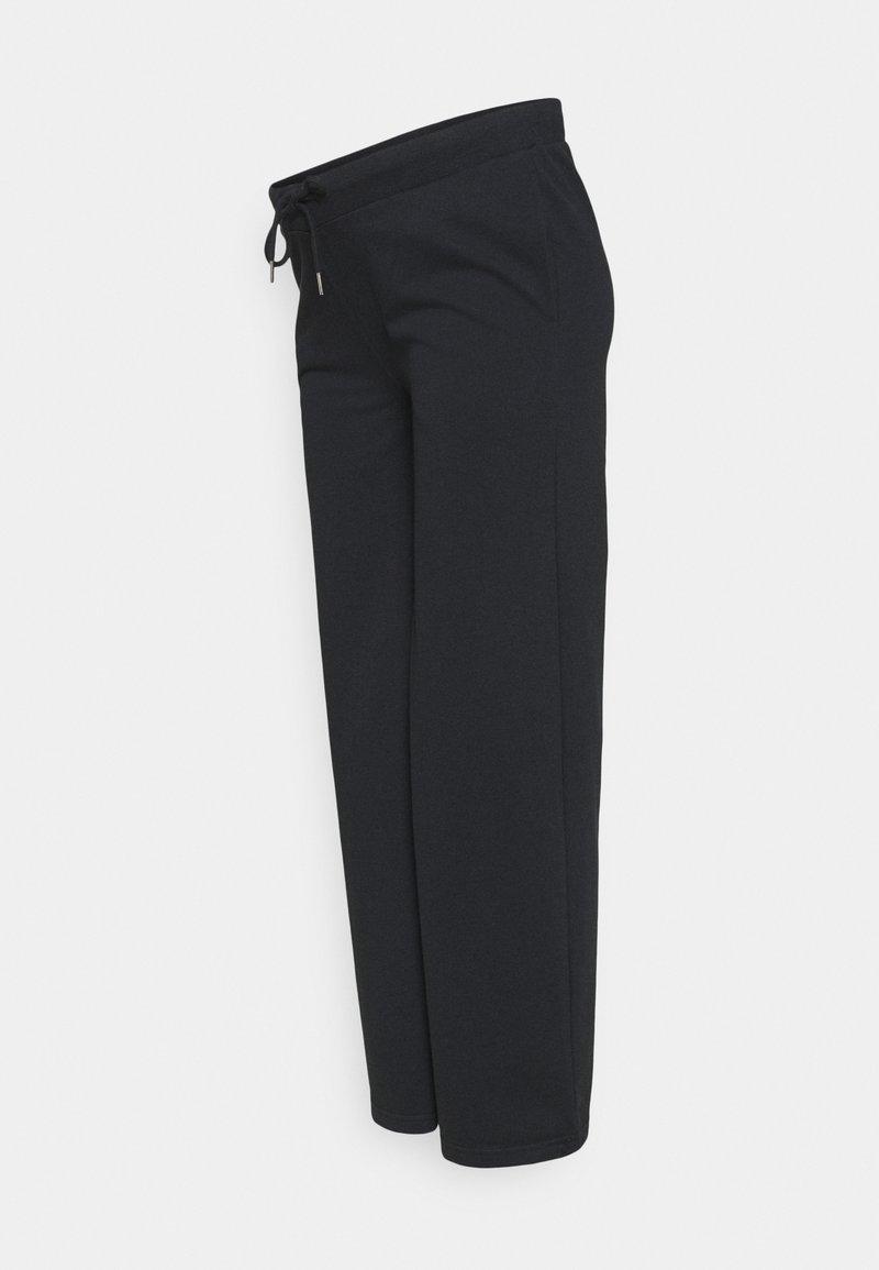 Anna Field MAMA - UNDERBUMP wide leg sweatpants - Teplákové kalhoty - black