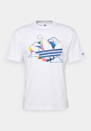 SUMMER TREFOIL - T-shirt imprimé - white