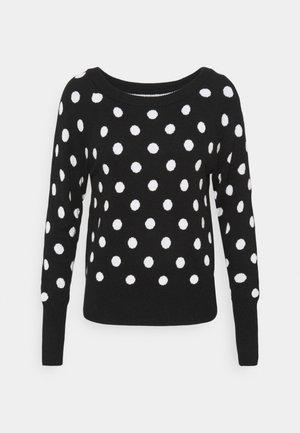 CRAZY DOT NEW COZY - Jersey de punto - black/white