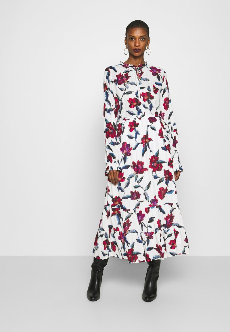 Fabienne Chapot - COCO DRESS - Maxi-jurk - cream white/parrot
