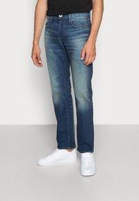 G-Star - 3301 STRAIGHT FIT - Straight leg jeans - joane stretch denim - worker blue faded - 0