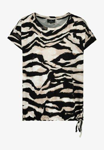 MIT ZEBRA LOOK - Print T-shirt - black/beige