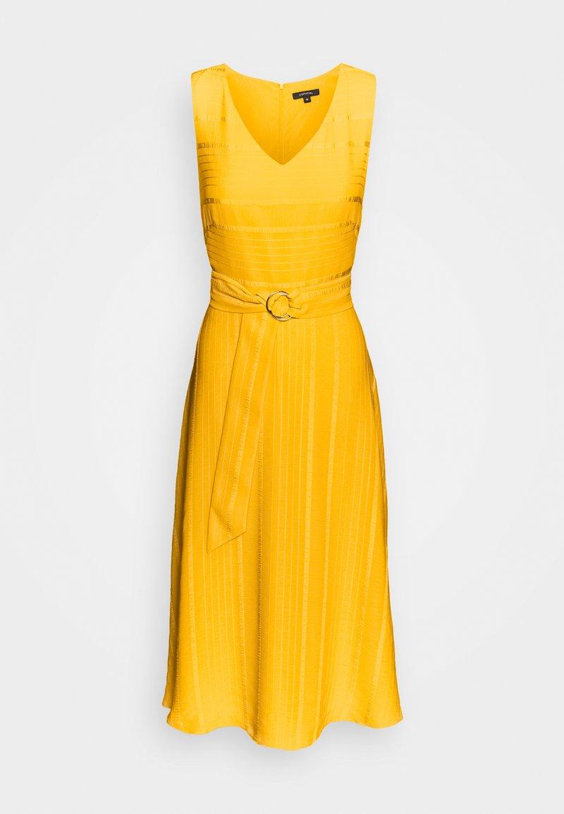 Comma Cocktailkleid Festliches Kleid Yellow Zalando At