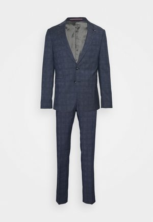 FLEX CHECK SLIM FIT SUIT SET - Suit - blue