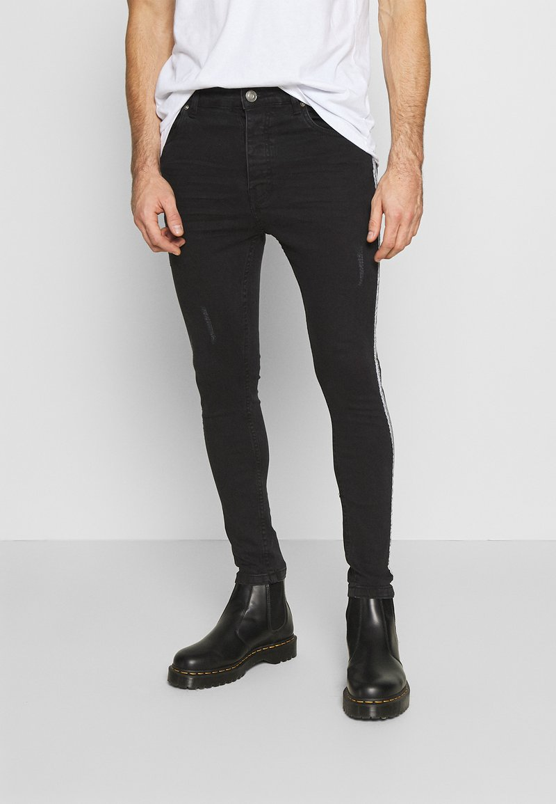 Brave Soul - REFLECT - Jeans Skinny Fit - charcoal wash