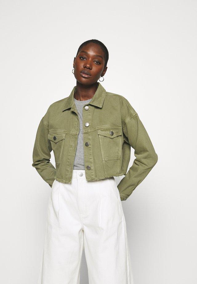 CATRINA - Jeansjakke - khaki