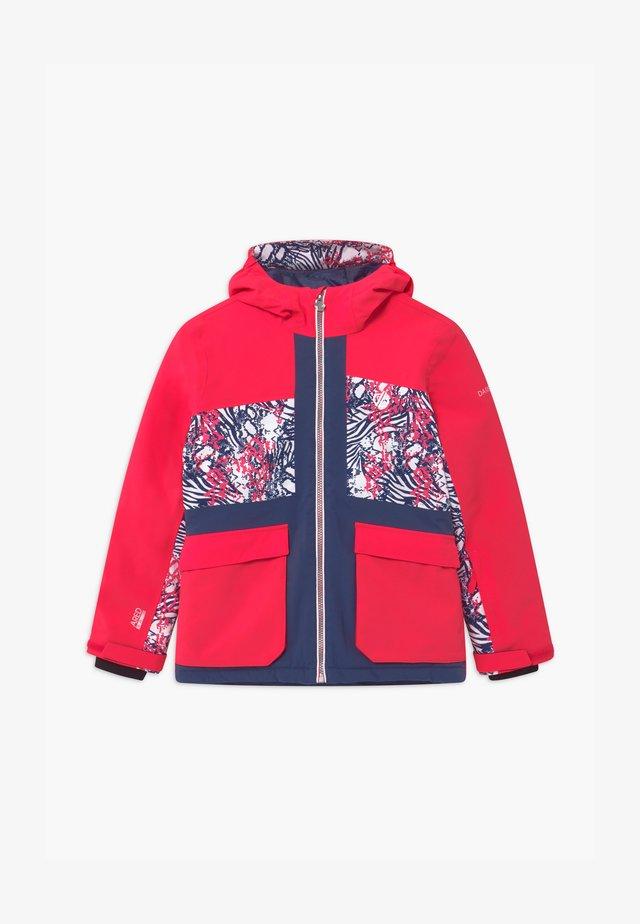 ESTEEM UNISEX - Snowboard jacket - neon pink/dark blue