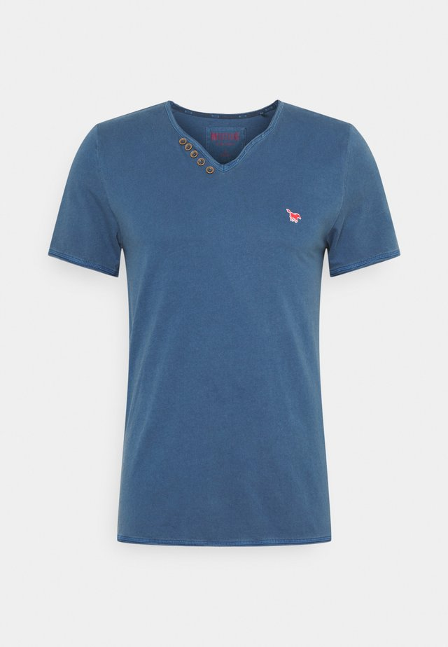 AARON SERAFINO - T-shirt print - ensigne blue