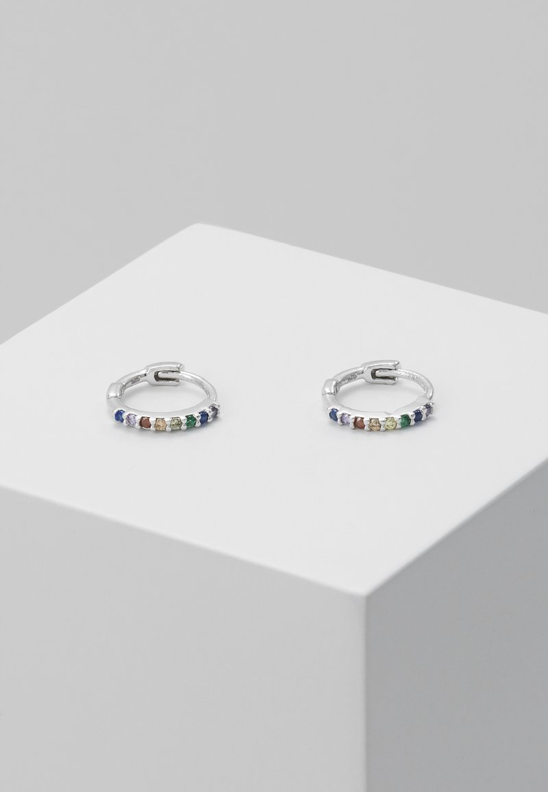 Astrid & Miyu - RAINBOW HUGGIES - Earrings - silver-coloured