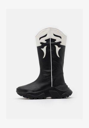 LUCKY - Cowboystøvler - black