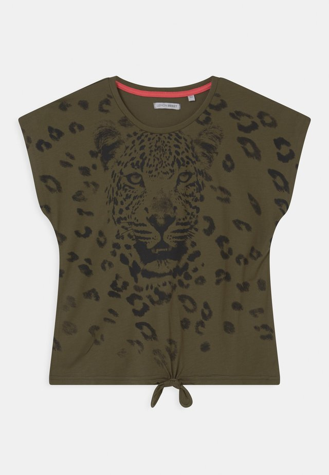 TEEN GIRLS  - T-shirt con stampa - khaki
